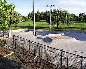 Skatepark in Davis, California, U.S.