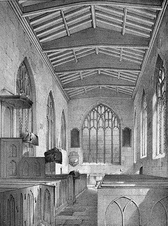 George Ayliffe Poole - Illustration of Skirlaugh Chapel, from Architectural, historical, and picturesque Illustrations of the Chapel of St. Augustine, Skirlaugh, Yorkshire (1855), edited by George Ayliffe Poole