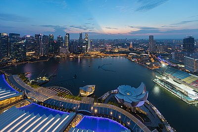 Skylines of the Central Business District, Singapore at dusk.jpg