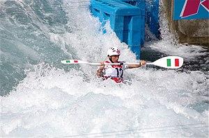 Slalom canoeing 2012 Olympics W K1 ITA Maria Clara Giai Pron (2).jpg
