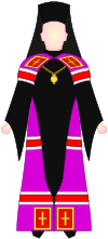 Slavic Orthodox Bishop - choir dress.svg
