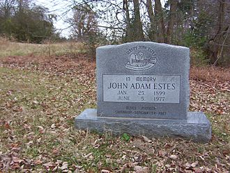 Sleepy John Estes - Grave of Estes, in Durhamville, Tennessee, 2008