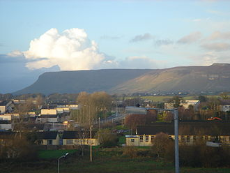 Benbulbin - Benbulbin, viewed from The Hill in Sligo Town