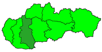Poloha nitranské diecéze v rámci Slovenska