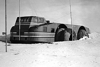 Antarctic Snow Cruiser Vehicle intended to facilitate transport in Antarctica