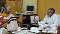 Social activist, Ms. Medha Patkar calls on the Union Minister for Rural Development and Panchayati Raj, Dr. C.P. Joshi, in New Delhi on November 22, 2010.jpg