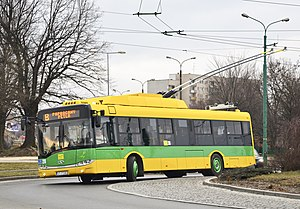 Trolleybuses in Tychy - A Solaris Trollino 12 in Tychy, 2013