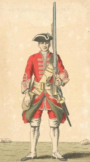 32nd (Cornwall) Regiment of Foot - Soldier of 32nd regiment, 1742