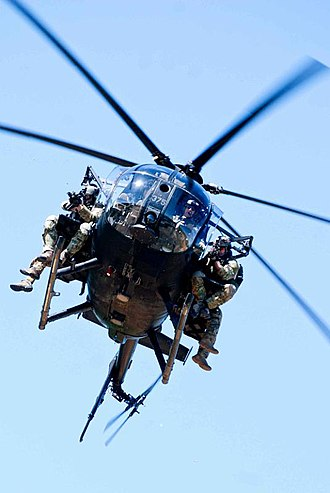 MD Helicopters MH-6 Little Bird - US Army Rangers on exercise using an MH-6