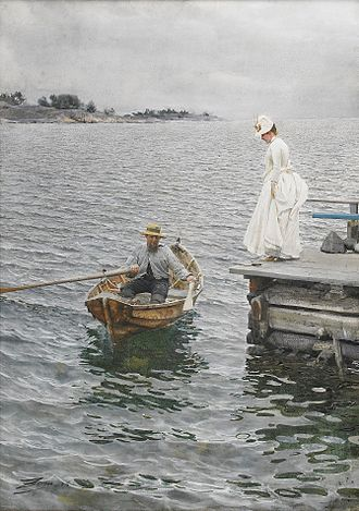 Anders Zorn - Sommarnöje, 1886. Sweden's priciest painting ever; sold at 26 million SEK on June 3, 2010.