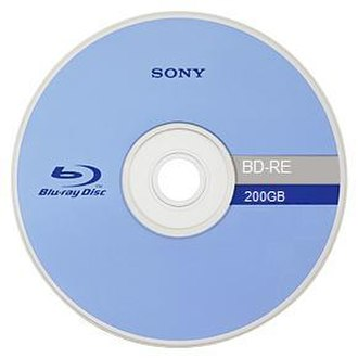 Sony - Front side of a Sony 200GB Blu-ray disc.