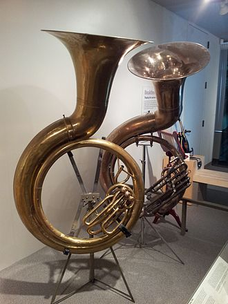 Sousaphone - 1893 sousaphones at the Museum of Making Music.