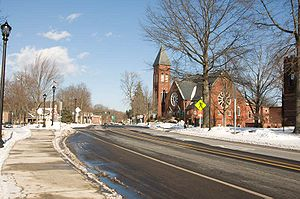 South Hadley, Massachusetts - Image: South Hadley (Green) 20090103 0037