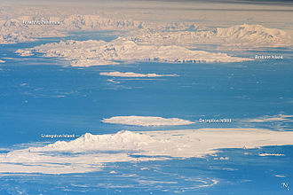 South Shetland Islands - South Shetland Islands and Antarctic Peninsula. Astronaut photo, 2011.
