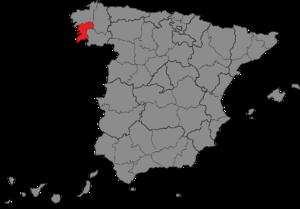 Pontevedra (Congress of Deputies constituency) - Location of Pontevedra within Spain