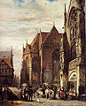 Springer Cornelis Many Figures On The Market Square In Front Of The Martinikirche Braunschweig.jpg