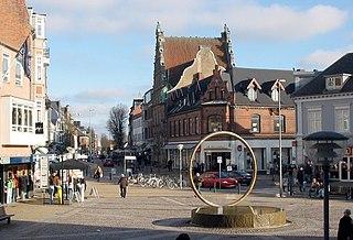 Hjørring Town in North Denmark, Denmark