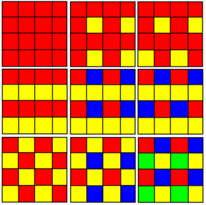 Uniform coloring - Image: Square tiling uniform colorings