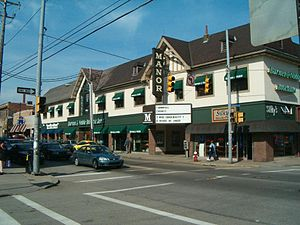 Squirrel Hill (Pittsburgh) - Murray Avenue in Squirrel Hill in 2005.