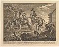 """Sr. Hudibras, His Passing Worth, The Manner How He Sally'd Forth"""" (Twelve Large Illustrations for Samuel Butler's Hudibras, Plate 2) MET DP826945.jpg"""