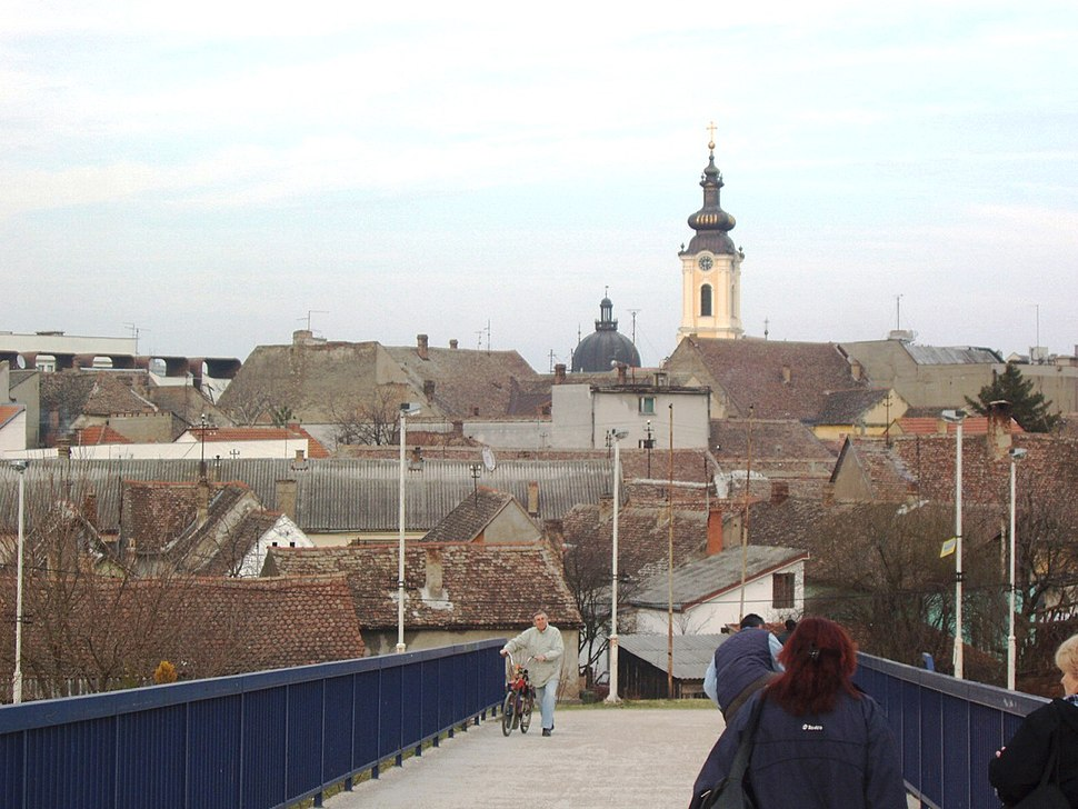 Sremska Mitrovica - Town View from the Bridge