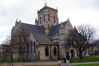 Grimsby - St James' Church, before its extension