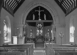 St. Marys church Abbey Cwmhir