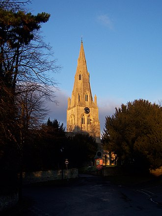 Wollaston, Northamptonshire - Steeple of St Mary's parish church