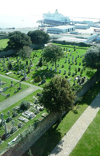 St Augustine's Church, Ramsgate - Image: St Augustine's Abbey graveyard by Clint Mann Geograph 3897289