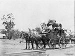 Stagecoach at Almaden, Queensland, 1904 (6876675110).jpg