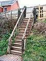 Stair from Lympstone Station Car Park - geograph.org.uk - 1208866.jpg