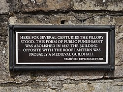 Stamford pillory (stamford civic society)