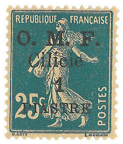 Stamp Cilicia 1920 1pi on 25c.jpg