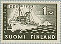 Stamp of Finland - 1929 - Colnect 45785 - 1 - 700th Anniversary of Turku - wmk Post Horn type w.jpeg