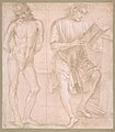 Standing Youth with Hands Behind His Back, and a Seated Youth Reading (recto); Two Studies of Hands (verso) MET DP810428.jpg