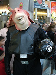 Cosplay de Jar Jar Binks.