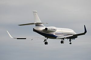 Dassault Falcon 2000 - Blended winglets were introduced with the 2000LX and can also be installed on other variants (here a 2000EX)
