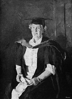 StateLibQld 2 212916 Freda Bage in academic dress, 1949.jpg
