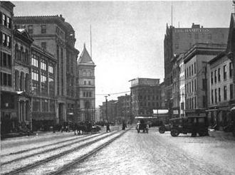 Old Post Office (Albany, New York) - View of post office down State Street before Plaza construction