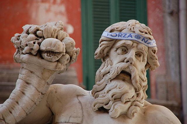 Statue du Dieu Nil à Naples. Photo de Raffaele Esposito.