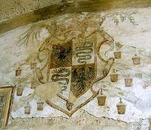 Stemma della famiglia Sforza all'interno della Cappella