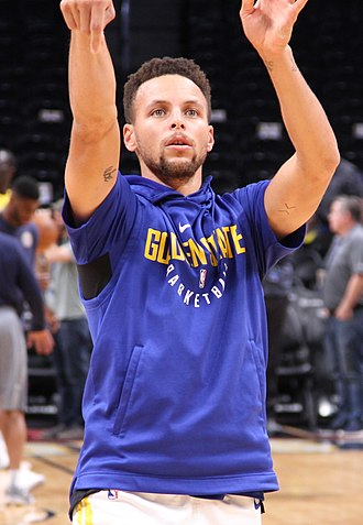 Point guard - Point guard Stephen Curry. Curry won three NBA championships with the Golden State Warriors.