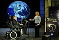 Stephen hawking and lucy hawking nasa 2008.jpg