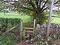 Stile and footpath near Penrith - geograph.org.uk - 2188586.jpg