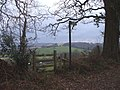 Stile and footpath sign. - geograph.org.uk - 1706678.jpg