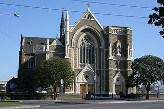 St Mary Star of the Sea, West Melbourne Church in Victoria, Australia