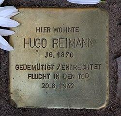 Photo of Hugo Reimann brass plaque