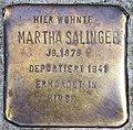 Stolperstein Homburger Str 4 (Wilmd) Martha Salinger.jpg