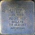 Stolperstein Köln, Arthur Leffmann (Flandrische Straße 18).jpg