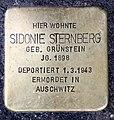 Stolperstein Kantstr 150a (Charl) Sidonie Sternberg.jpg